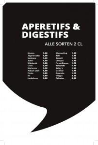 Getränkekarte - Aperetifs