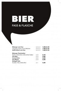 Getränkekarte - Bier