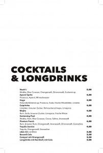Getränkekarte - Cocktails