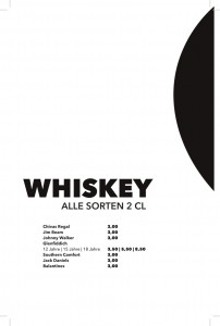 Getränkekarte - Whiskey
